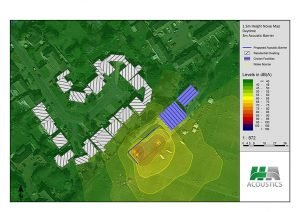 Noise map service for cricket nets noise modelling