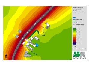 Noise modelling noise map
